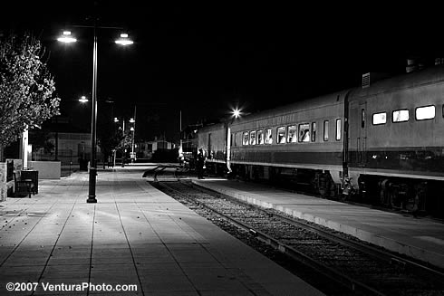 Santa Paula Train, Night
