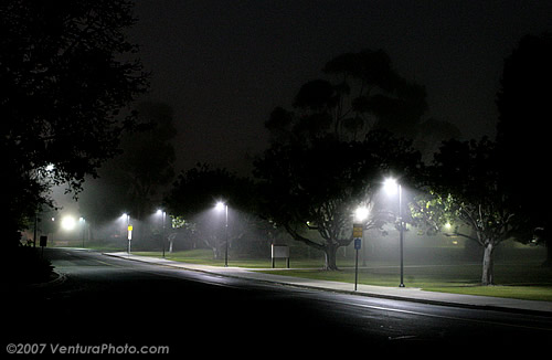 Ventura College at night