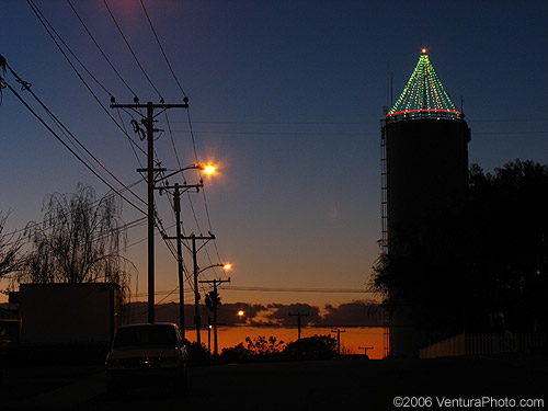 Camarillo Water Tower lights